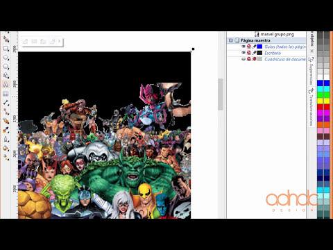 CorelDRAW Efecto Power Clip a profundidad Actualización de tutorial X6 X7 @ADNDC @adanjp