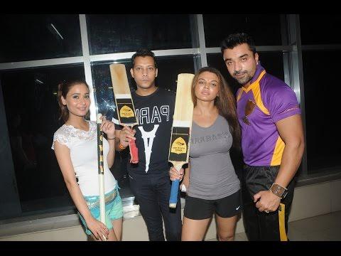 BCL Team Rowdy Bangalore Practice Match   Rakhi Sawant, Ajaz Khan