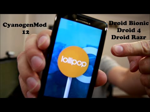 How to install Android 5.0.2 Lollipop on the Motorola Droid Bionic. Droid 4 and Droid Razr