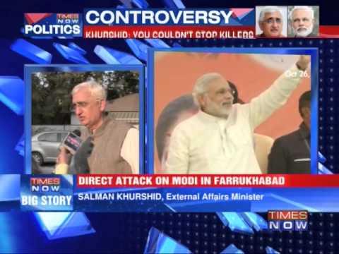 Salman Khurshid calls Narendra Modi 'impotent'