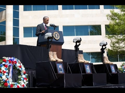 President Obama Speaks at a Memorial Service for Victims of the Shooting at Fort Hood