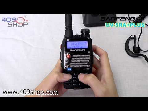 BAOFENG UV5RA-PLUS Black Dual Band 136-174/400-480MHZ