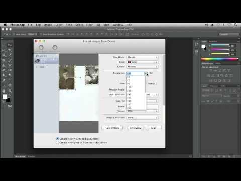 Scanning an Image - Adobe Photoshop CS6 Tutorial