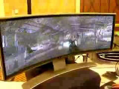 Shown off at CES 2008, this curvy gaming monitor is the equivalent of two WXGA-resolution displays side by side. Read the full story at http://techdigest.tv/...