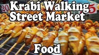 Walking Street Night Market, Krabi Town Street Food: Thai Street Food Vendors Cooking