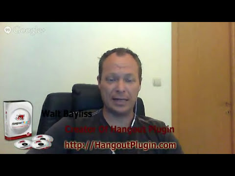 Online Marketing With Walt Bayliss Hangout Plugin