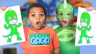 GOO GOO GAGA COLORS MAGIC PJ MASKS! EDUCATIONAL VIDEO FOR KIDS AND TODDLERS!