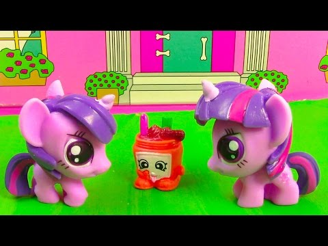Mlp Double Twilight Sparkle My Little Pony Shopkins Peanut Butter Playing House Snack Food Fun video