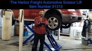 """Major Upgrade For The """"Restoration Department"""". The Harbor Freight Automotive  lift # 91315"""