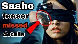 Saaho teaser breakdown in hindi | Saaho official teaser details you missed