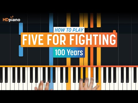 How to Play 100 Years  Five For Fighting on Piano with Synthesia & HD Piano Part 1