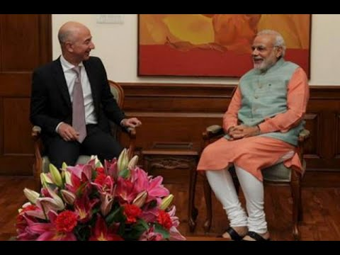Amazon's Jeff Bezos calls on PM Modi, talks tax and FDI in ecommerce
