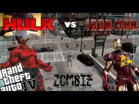 GTA 4 +Webcam Red Hulk Mod + Zombie Apocalypse Mod + Iron Man Mod - Will This Ev