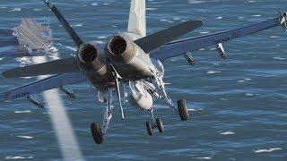 DCS: First Carrier Landing Attempts (F/A-18C)