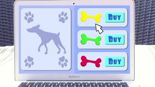Video for kids about Funny Puppies and colorful bones.