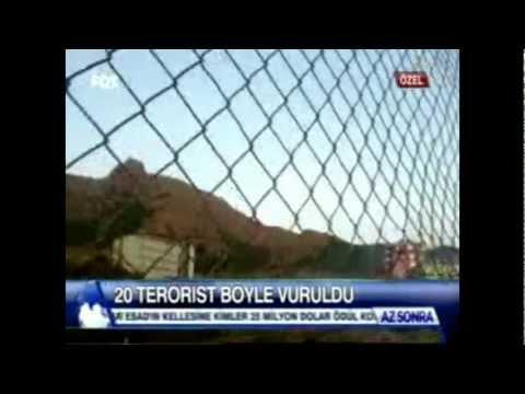 Asker Kamerasindan 20 Pkk`linin öldügü canli catisma görüntüleri Güzelkonak Karakolu