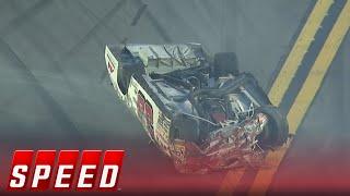Justin Fontaine Rolls Over in Hard Crash at Daytona I ARCA 2017