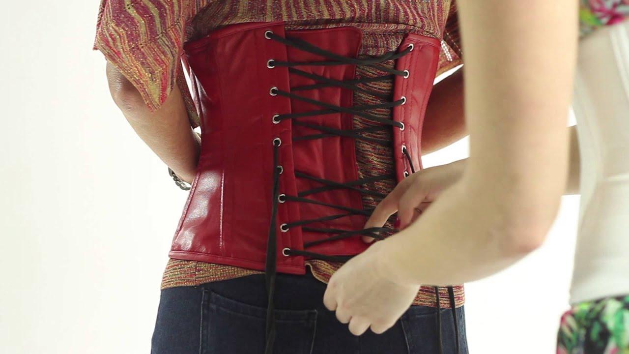 Corset lacing machine