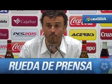 Rueda de prensa de Luis Enrique tras el Córdoba CF (0-8) FC Barcelona