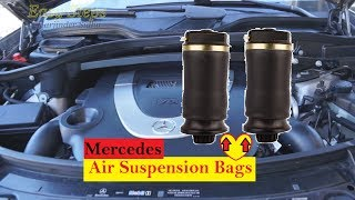 How To Replace Mercedes Rear Air Suspension Bags on GL Class X164 Chassis | GL450 Air Spring