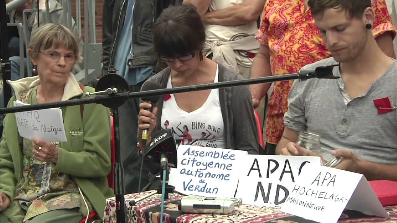 Confrence de presse des APAQs - solidarit avec la grve tudiante