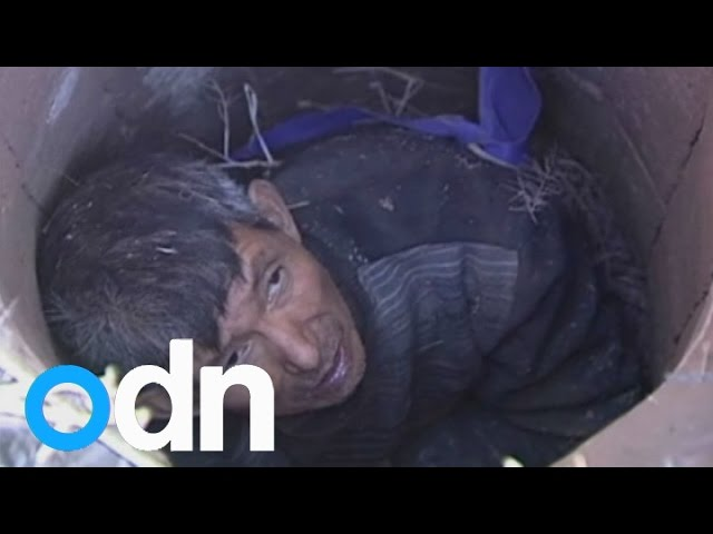Elderly man rescued after being trapped in well for three days in China