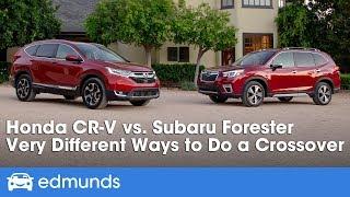 2019 Honda CR-V vs. 2019 Subaru Forester ― Small-SUV Comparison & Review