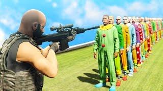 Can 1 Sniper Bullet Kill 100 Clowns  Gta 5 Funny Moments