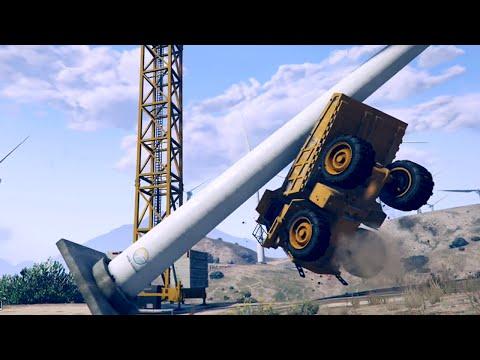 GTA 5 WIND TURBINE GLITCH! How To Knock Over Windmills in GTA 5 Online (GTA 5 Glitches)