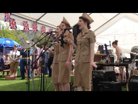 'Boogie Woogie Bugle Boy' performed by Company B, UK at Whitwell Village Party