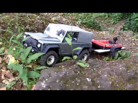 rc trailer, axial scx10