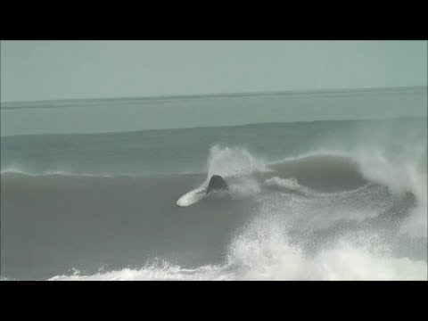GIGANTIC Hurricane Sandy Waves - EPIC SATELLITE BEACH FLORIDA SURF - October 29, 2012