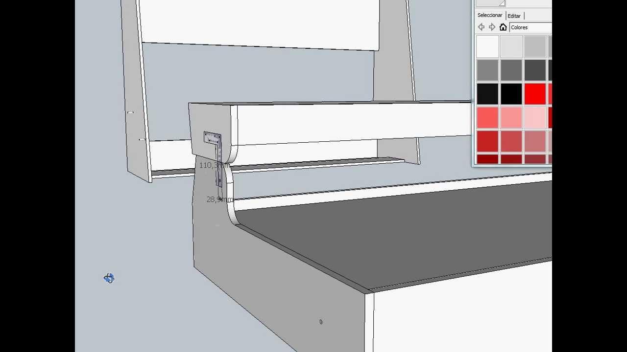 Proyecto de cama elevable con escritorio youtube - Camas con escritorio ...