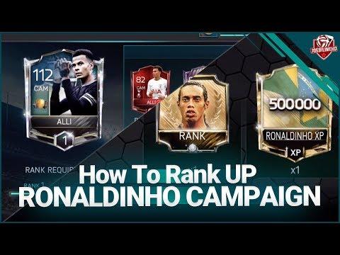 FIFA MOBILE 18 COMPLETING THE RONALDINHO ICON CAMPAIGN & RANK UP 2 ON DELE ALLI