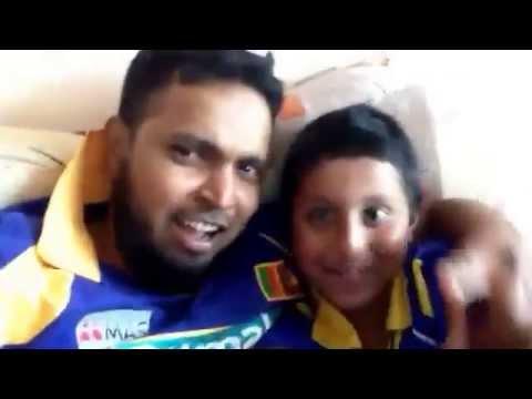 India being trashed by Sri Lanka in T20 Finals 2014 - Adheeb & Huzaifa