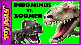 Jurassic World Indominus Rex ZOOMER DINO vs Oynx, MiPosaur Robotic Dinosaurs Comparison + Toy Review