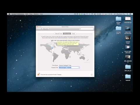 how to set time and date on Macbook, macbook pro, iMac, macbook retina display