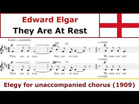 Edward Elgar - They are at rest