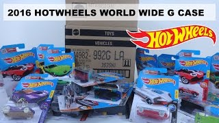 2016 HOTWHEELS WORLD WIDE G CASE UNBOXING 72 CARS