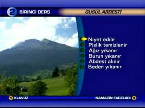 Abdest Nasil Alinir Abdest,gusül ve Teyemmüm Nasıl