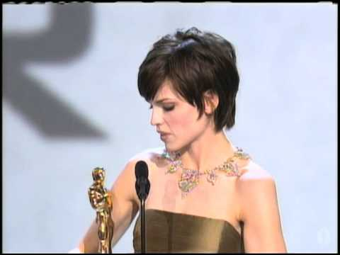 "Hilary Swank winning an Oscar® for ""Boys Don"
