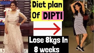 Indian Diet Plan To lose Upto 8kgs | Low Carb Weight loss Diet Plan | Azra Khan Fitness
