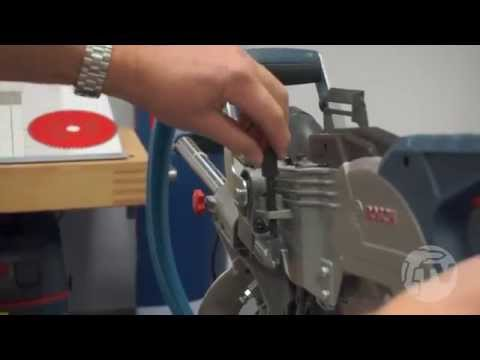How to make trench cuts with the Bosch GCM8SJL Single Bevel Sliding Mitre Saw