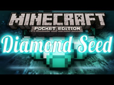 DIAMOND Seed - Iron, Gold, and Diamond Under Spawn - Minecraft Pocket Edition