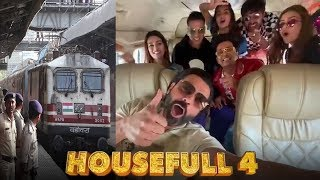 Akshay Kumar With Housefull 4 Team TRAVEL In A TRAIN From Mumbai - Delhi To Promote Their Film