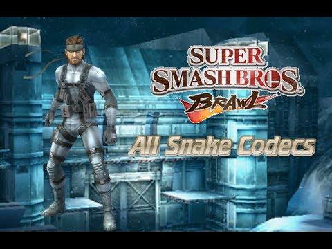 Super Smash Bros. Brawl: All Snake Codecs (Celebrate 1,000+ Subscribers!)