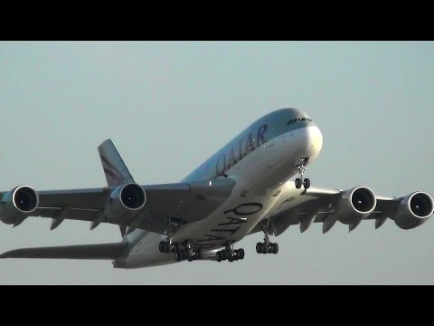 London Heathrow Airport Plane Spotting. A380, B777, B747 and more. Many airlines
