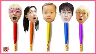 Learn Colors with kids toys snack Finger Family Nursery Rhymes Songs Pretend Play for Kids 인기동요