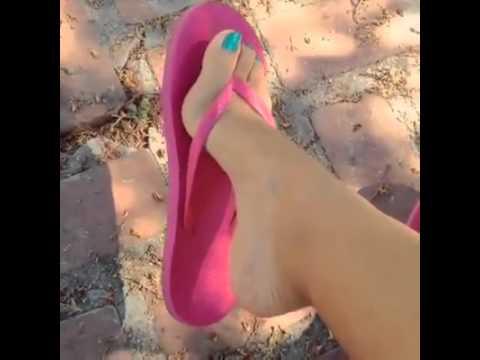 Sexy Feet Pink Flip Flops video