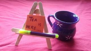 Miniature Easel || Handmade mini craft ideas || Romantic dinner table craft